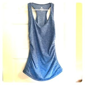 OLD NAVY Active Fitted Ruched Tank Blue L